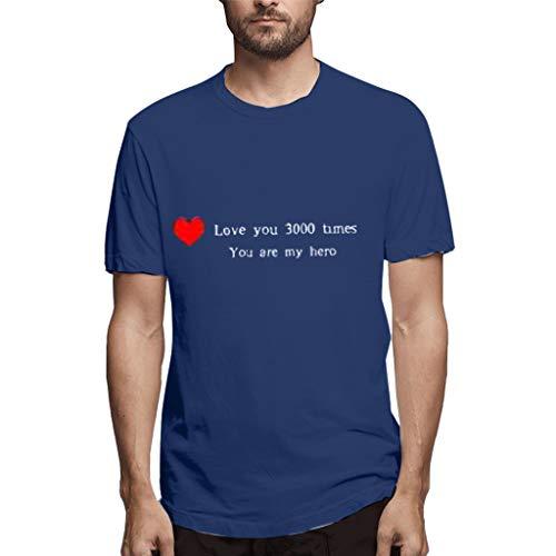 Vovotrade T-Shirt Donna Cotone Scollo Divertente Humor Camicia Uomo Slim Fit I Love You 3000 Usura delle Coppie Ti Amo