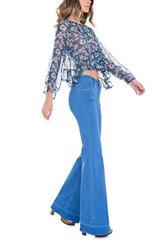 Salsa Tunique avec Imprimé Floral - Femme Bleu