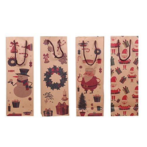 Descripción   Este paquete de bolsas de regalo para botellas de vino lo preparará para todas sus necesidades de regalos de vino. Estas pequeñas cajas son perfectas para los favores de la boda. No solo tienen un aspecto elegante, tienen la cantidad ...