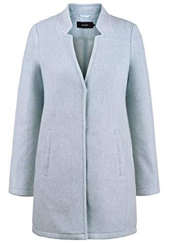 VERO MODA Mania Damen Winter Jacke Wollmantel Winterjacke Mantel Mit Reverskragen, Größe:M, Farbe:Smoke Blue