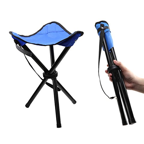 IDEAPRO Lightweight Camping Hiking Fishing Lawn Portable Folding Tripod Stool, Chair With 3 Legs Stool