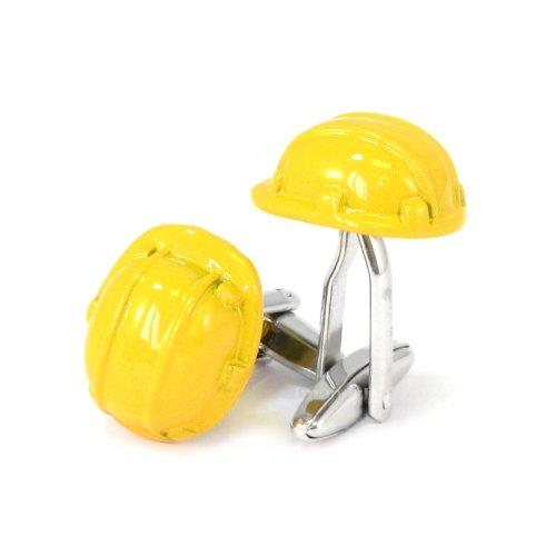 Manschettenknöpfe, Schutzhelm, Gelb, in Geschenkbox -