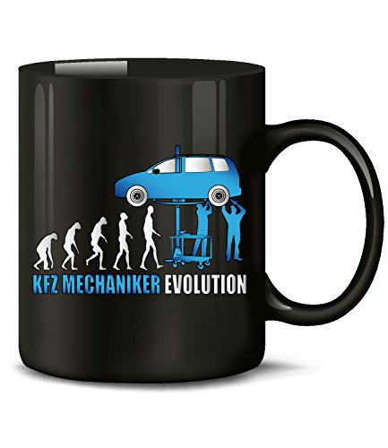 Golebros KFZ Mechaniker Evolution Handwerk 4579 Mechatroniker Fun Tasse Becher Kaffeetasse...