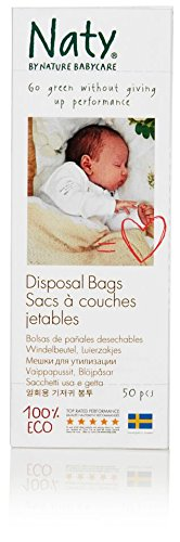 Naty by Nature Babycare Eco Disposal Nappy Bags - 3 x Packs of 50 (150 Disposal Bags)