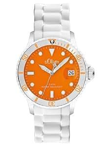 s.Oliver Damen-Armbanduhr Silikon Analog weiß bunt SO-2151-PQ