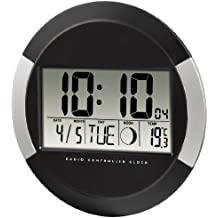 Hama pp-245 - Reloj de pared digital, color negro