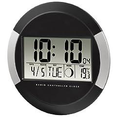 Idea Regalo - Hama Orologio digitale Radio controllato DCF PP-245, nero