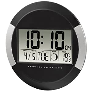"""Hama 00104936 Horloge murale """"PP-245"""" Noir"""