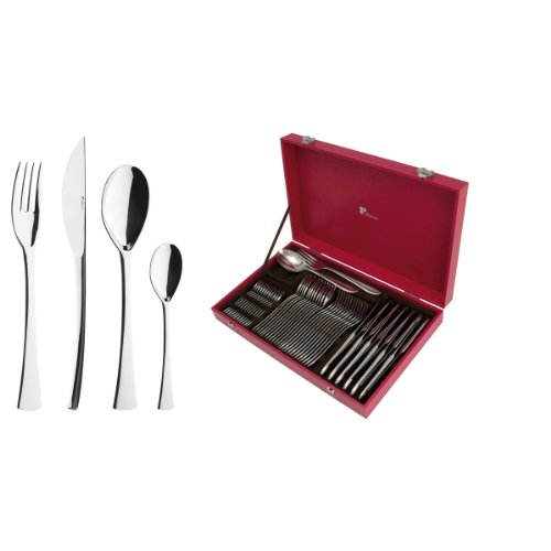 DEGRENNE Guy Solstice Cutlery Set Red, red, 50 Pièces