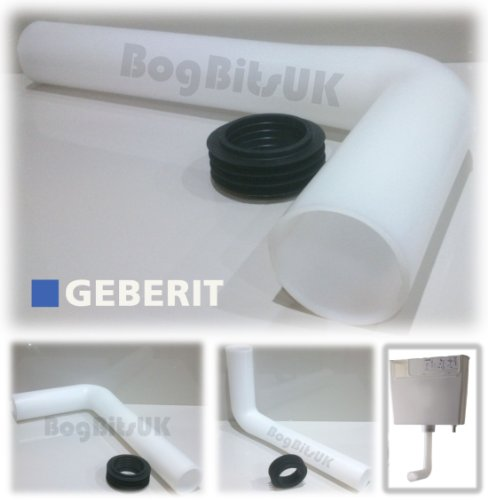 Geberit Concealed Cistern 2 Flush Pipe & Rubber Cone 50mm x 44mm 119.705.93.1 by Geberit