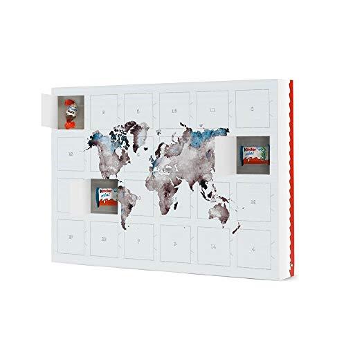 artboxONE Adventskalender mit Produkten von Kinder® World map 79 White Blue Adventskalender Kartografie