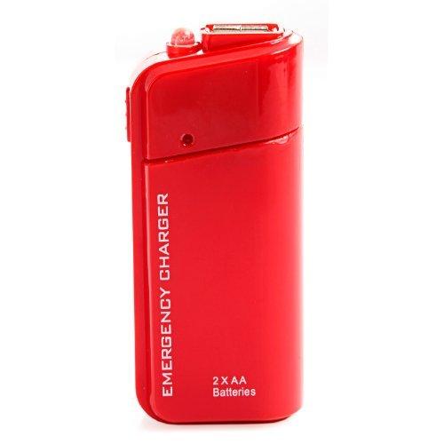 SODIAL(R) USB Cargador de bateria de emergencia linterna para celulares iPhone iPod - Rojo