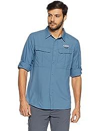 Columbia Men's Plain Regular Fit Nylon Casual Shirt