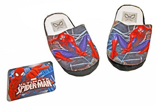 Hausschuhe Junge SpiderMan Spinne -Mann Schuhgrößen 27/28 die 33/34 MARVEL Schwarz / Rot