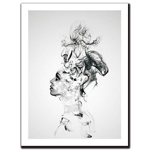 Abstract Boy Canvas Print Wall A...