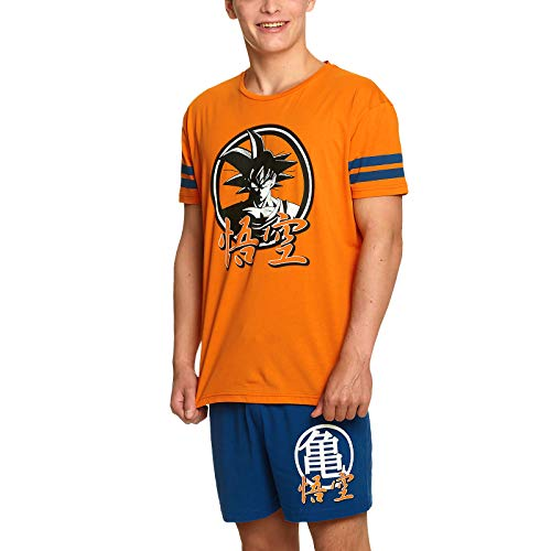 Dragon Ball Z Pyjama 2tlg Goku T-Shirt Shorts Elbenwald Baumwolle orange blau - XL (Shirt Ball Dragon)