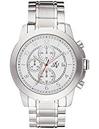 Reloj hombre Louis Villiers en acero blanco 47 mm LV1012