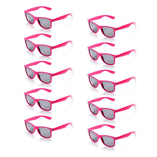 ONNEA 10 Paare Party Favors Sonnenbrille Set Sommer Kinder Damen (Leuchtend Rosa 10-Pack)