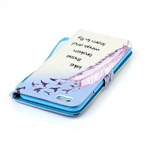 Apple iPhone 6/ 6S Hülle im Bookstyle, Xf-fly® PU Leder Flip Wallet Case Schutzhülle für Apple iPhone 6/ 6S Tasche Handytasche mit Magnetverschluss Kartenfach Standfunktion Muster Handyhülle P-3