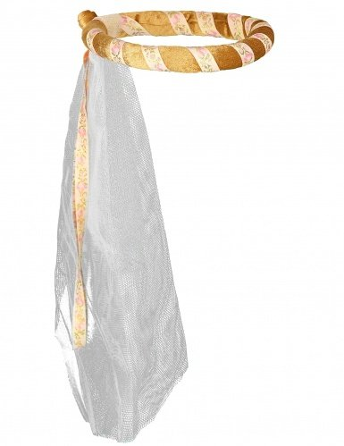 Preisvergleich Produktbild Jungfernkranz Isabella, gold, mit Schleier