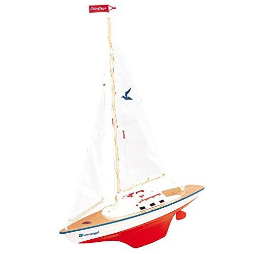 Preisvergleich Produktbild Segeljacht Sturmvogel 55x67cm Boot Segelbootmodell Modell Schiff Schiffmodell Segler Jacht