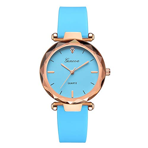 Yvelands Uhren Fashion Damen Damenuhren Geneva Silica Band Analog Quartz Wrist Watch