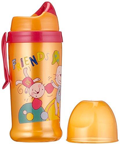 Rotho Babydesign 306280231BD Trinkflasche mit weichem Trinkaufsatz, raspberry / mandarin