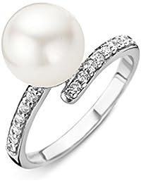 Orphelia Damen-Ring 925 Silber rhodiniert Zirkonia Rundschliff Muschel