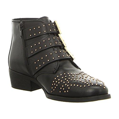 Bronx 43771-d-231, Bottes pour Femme noir/doré