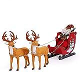Christmas Santa Claus Ciervos Carro Gran Motos de Nieve Hotel Centro de Accesorios Adornos muñeco de Nieve Navidad Decoraciones Conjunto