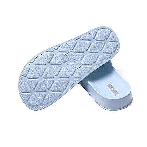 William & Kate Unisexe Couple Hiver Automne Accueil Chaussures Décontractées Antidérapant Intérieur Et Extérieur Sable Sandal Pantoufle Bleu Gris