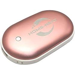 Bestech 5200Mah portable Batterie Externe USB Pocket chauffe-main électrique réchauffeur rechargeable (Rose)