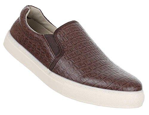 Chinelo Mens Sapatos Marrom Crocodilo Sapatos Sapatos Negócios De Baixos Olhar TRXqOwR