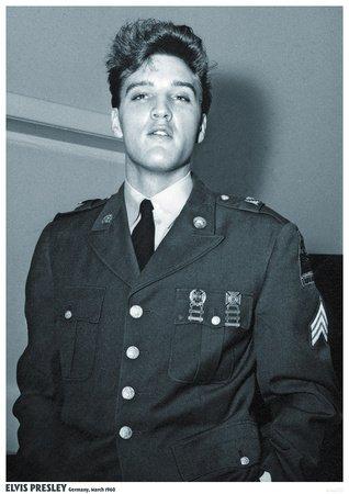 ELVIS PRESLEY POSTER GERMANY MARCH 1960 (Fan Elvis Presley)