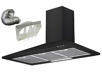 cookology ch100bk extracteur noir 100 cm sans marque hotte de chemin e et kit de conduit. Black Bedroom Furniture Sets. Home Design Ideas