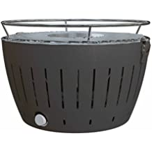 LotusGrill – Barbacoa de carbón Vegetal sin Humos – con Turbo Ventilador para calefacción ...