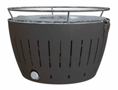 LotusGrill Holzkohlegrill ohne Rauch–mit Turbo-Lüfter für schnelle Heizung–Farbe Anthrazit/Kohle