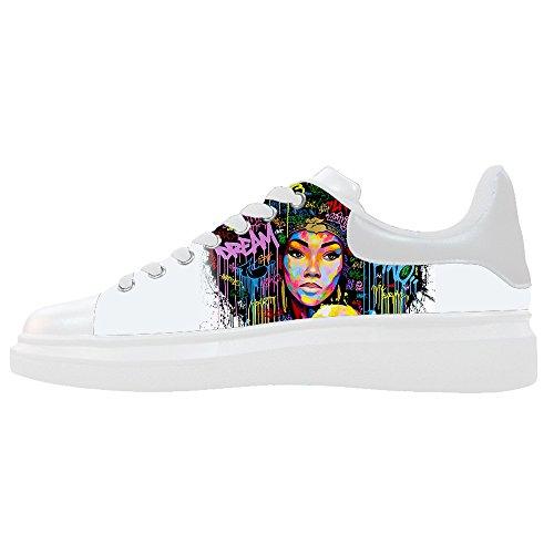 Dalliy African woman Men's Canvas shoes Schuhe Lace-up High-top Sneakers Segeltuchschuhe Leinwand-Schuh-Turnschuhe E