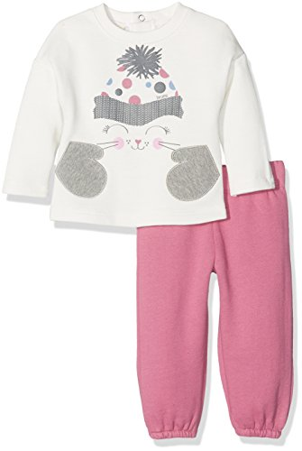 Brums Brums Baby-Mädchen Jogginganzug 173BEEP003 Elfenbein (Milk 002) 68 cm