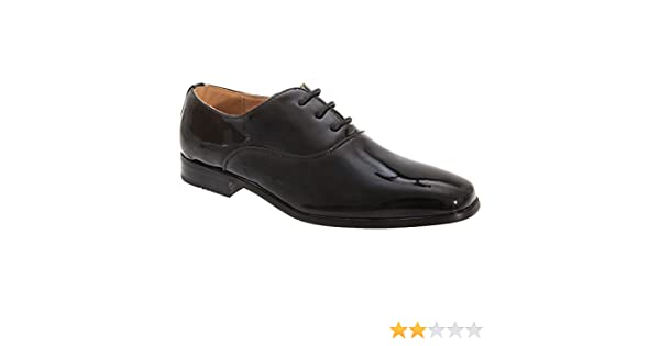 Goor Jungen Oxford-Schuhe / Schnürschuhe, Glanzleder (28 EUR) (Schwarz glänzend)