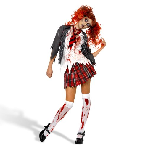 School Dead Zombie Girl Kostüm - PARTY DISCOUNT NEU Damen-Kostüm Zombie School-Girl Gr. M