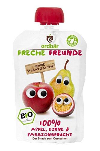 Freche Freunde Bio Quetschie 100% Apfel, Birne & Passionsfrucht 6-er Pack (6 x 100ml)