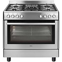 Beko GM15121DX Cuisinière Cuisinière à gaz B Acier inoxydable four et cuisinière - Fours et cuisinières (Cuisinière, Acier inoxydable, Rotatif, Cuisinière à gaz, Small, Moyen)