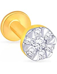 Malabar Gold and Diamonds 18KT Yellow Gold and Diamond Nose Pin for Women