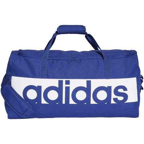 9b10f1d6e8 adidas Lin per TB M, Borsa Sportiva Unisex Adulto, Mystery Ink F17/Bianco