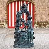 Gartentraum Edler Bronze Standbrunnen mit Engelfiguren - Patience