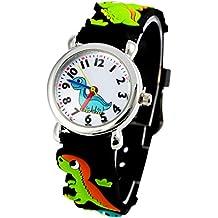 Happy Cherry - Reloj de Cuarzo Analógico Silicona Colorido de Pulsera Lindo Watch Deportes Estampado de