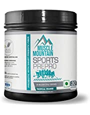 Muscle Mountain SportsPrePro (Sports Pre-Probiotics Supplements) for Body Building and Athletes | 20 Billion CFUs/Serving | Probiotic with Smart Prebiotic Fiber - Tropical Orange Flavor (90gm | 0.198 lbs, 30 Servings)