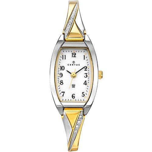 Joalia - 634467 - Montre Femme - Quartz Analogique - Cadran Blanc - Bracelet Métal Bicolore