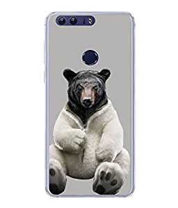PrintVisa Designer Back Case Cover for Huawei Honor 8 (Funny Head Love Character Animalart Art Beautiful Work)